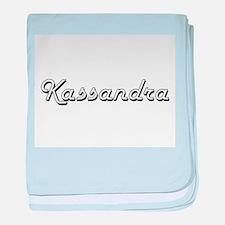 Kassandra Classic Retro Name Design baby blanket