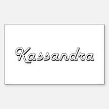 Kassandra Classic Retro Name Design Decal
