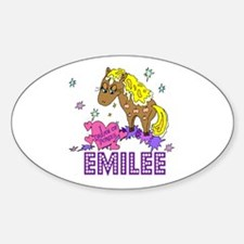 I Dream Of Ponies Emilee Oval Decal