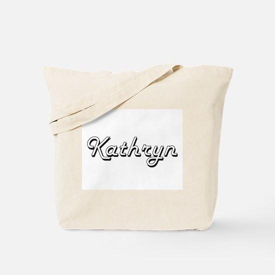 Kathryn Classic Retro Name Design Tote Bag