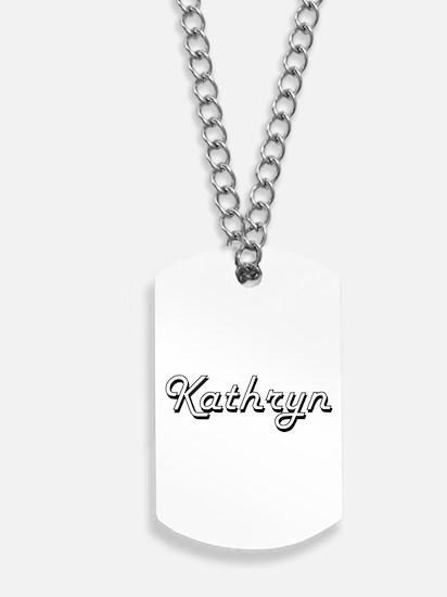 Kathryn Classic Retro Name Design Dog Tags
