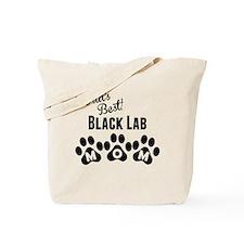Worlds Best Black Lab Mom Tote Bag