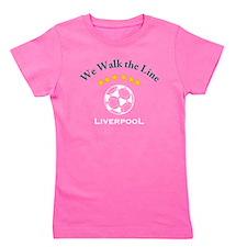 Cute English football Girl's Tee