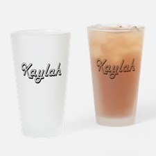 Kaylah Classic Retro Name Design Drinking Glass
