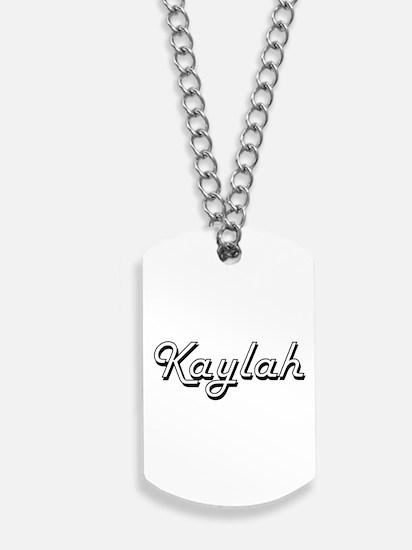 Kaylah Classic Retro Name Design Dog Tags