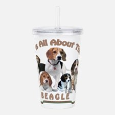 All About The Beagle Acrylic Double-wall Tumbler