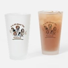 All About The Beagle Drinking Glass