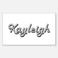 Kayleigh Classic Retro Name Design Decal