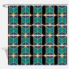 Art Deco Motif Shower Curtain