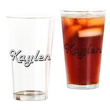 Kaylen Classic Retro Name Design Drinking Glass