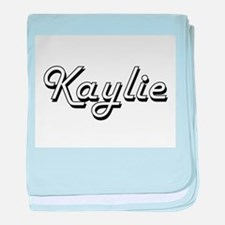 Kaylie Classic Retro Name Design baby blanket