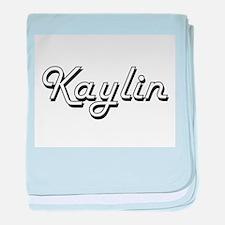 Kaylin Classic Retro Name Design baby blanket