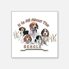 All About The Beagle Sticker