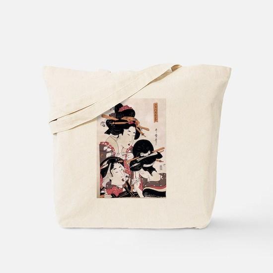 Ukiyoe Geisha Night Out Tote Bag