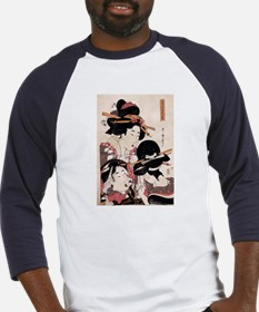 Ukiyoe Geisha Night Out Baseball Jersey