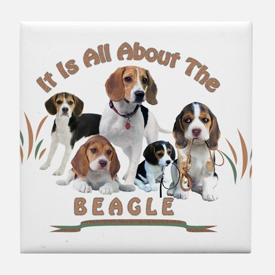 All About The Beagle Tile Coaster
