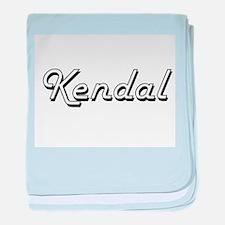 Kendal Classic Retro Name Design baby blanket