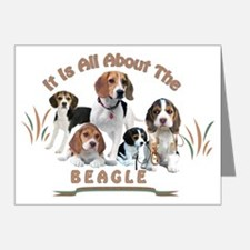 All About The Beagle Note Cards