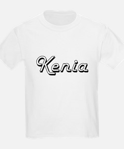 Kenia Classic Retro Name Design T-Shirt