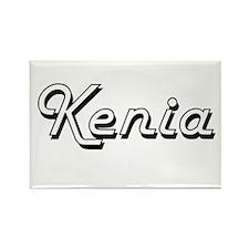 Kenia Classic Retro Name Design Magnets
