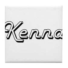 Kenna Classic Retro Name Design Tile Coaster