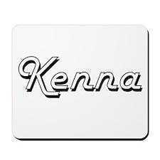 Kenna Classic Retro Name Design Mousepad