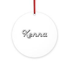 Kenna Classic Retro Name Design Ornament (Round)