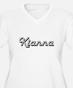 Kianna Classic Retro Name Design Plus Size T-Shirt