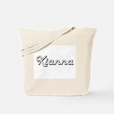 Kianna Classic Retro Name Design Tote Bag