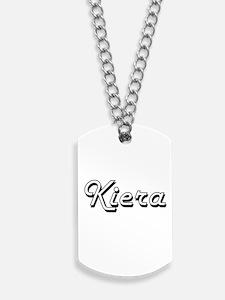 Kiera Classic Retro Name Design Dog Tags
