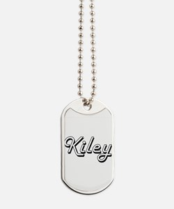 Kiley Classic Retro Name Design Dog Tags