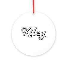 Kiley Classic Retro Name Design Ornament (Round)