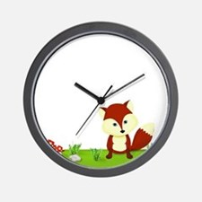 Woodland Fox Wall Clock