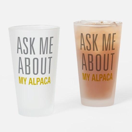 My Alpaca Drinking Glass