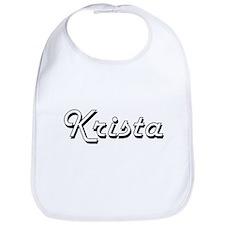 Krista Classic Retro Name Design Bib