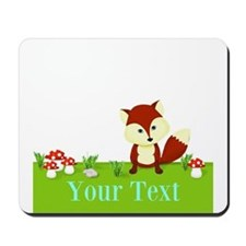 Personalizable Fox in the Woods Mousepad