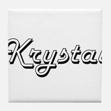 Krystal Classic Retro Name Design Tile Coaster