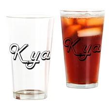 Kya Classic Retro Name Design Drinking Glass