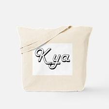 Kya Classic Retro Name Design Tote Bag