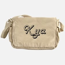 Kya Classic Retro Name Design Messenger Bag