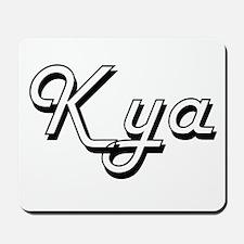 Kya Classic Retro Name Design Mousepad