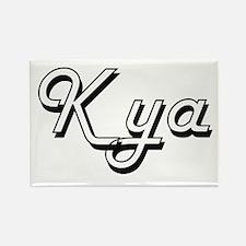 Kya Classic Retro Name Design Magnets