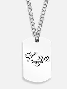 Kya Classic Retro Name Design Dog Tags