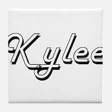 Kylee Classic Retro Name Design Tile Coaster