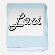 Laci Classic Retro Name Design baby blanket