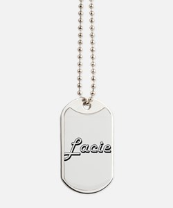 Lacie Classic Retro Name Design Dog Tags