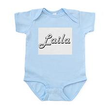 Laila Classic Retro Name Design Body Suit