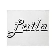 Laila Classic Retro Name Design Throw Blanket