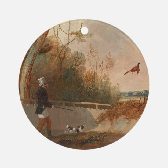 Pheasant Shooting Ornament (Round)