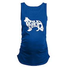White shiloh word Maternity Tank Top